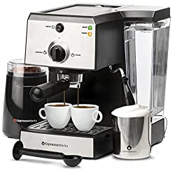 EspressoWorks All-In-One Espresso Machine Barista Bundle