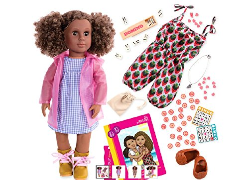Our Generation 18 Deluxe Doll (Denelle) with Extra Outfit and Accessories