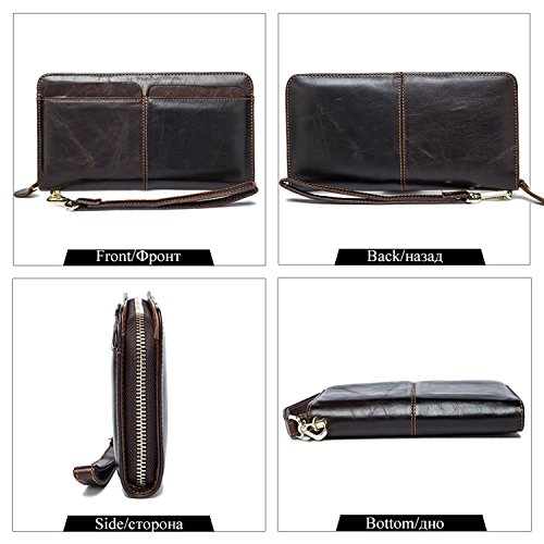 Phone Card Clutch Leather Holder Clutch Wallets Bag 9020coffee Wallets Men Wallets nw7qBYSw