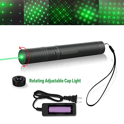 (Tactical Green Hunting Rifle Scope Sight Laser Pen, Demo Remote Pen Pointer, Outdoor Travel Flashlight, LED Interactive Baton Funny Laser Toy Pointer, Press Switch with)