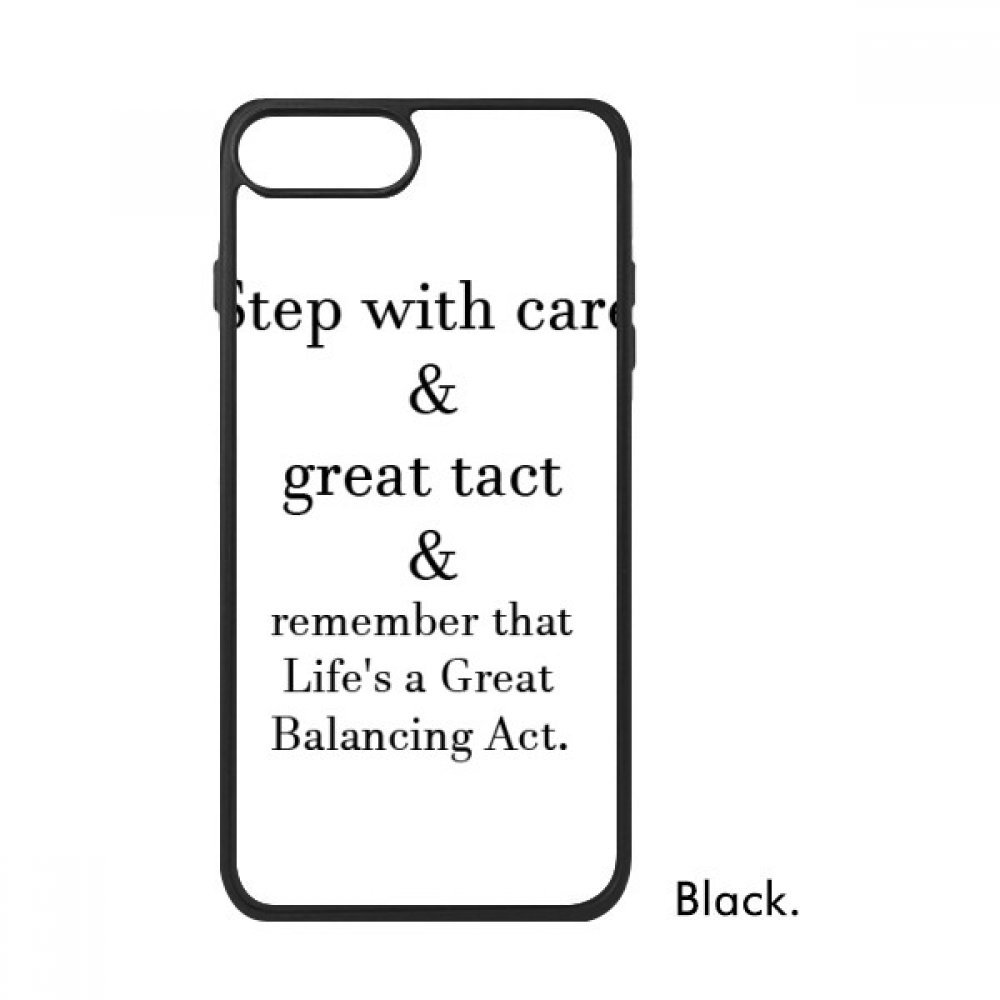 Amazoncom Care And Tact Give You Balance Life Quotes For Iphone 8