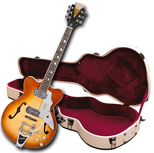 Kay Vintage Reissue Jazz II Tri-Chambered Semi Hollowbody Ice Tea Sunburst with Case ((K775VS))