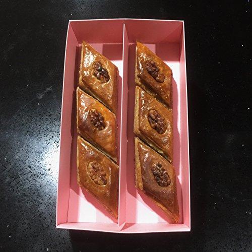 Azerbaijani Baklava with walnut Oriental Sweets Gift Box 6 pcs. Bakery New product Amazon