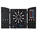 Fat Cat Mercury Electronic Dartboard, Built In Cabinet Doors With Integrated Scoreboard, Dart Storage For 6 Darts, Dual Display In Two Colors, Compact Target Face For Fast Play, 25/50 Bullseye Option