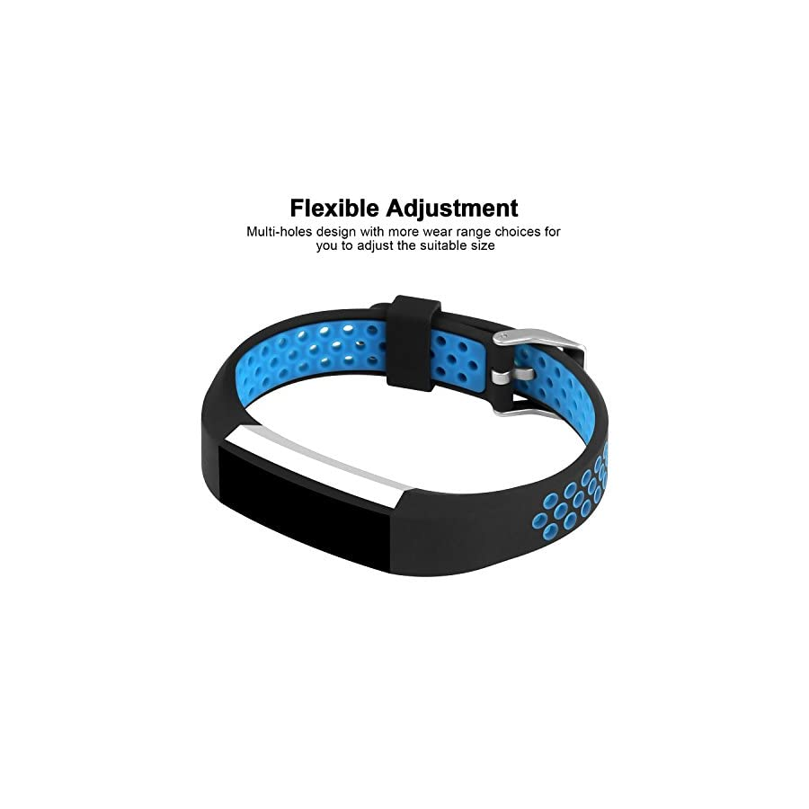 iGK Silicone Replacement Bands Compatible for Fitbit Alta and Fitbit Alta HR, Newest Adjustable Sport Strap Smartwatch Fitness Wristbands
