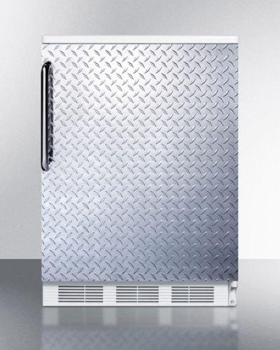 Summit FF6BI7DPLADA Refrigerator, Silver With Diamond - Accessories Refrigerator Summit