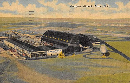 Akron Ohio Goodyear Airdock Birdseye View Antique Postcard K76751