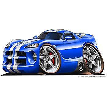 Dodge Viper GTS Cartoon Cars Wall Graphic 24