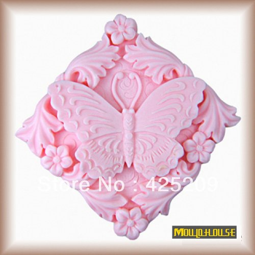 Pinkie Tm butterfly Splendor dancing flower square silicone mold soap molds, silica gel mould,silicon mould form wholesale