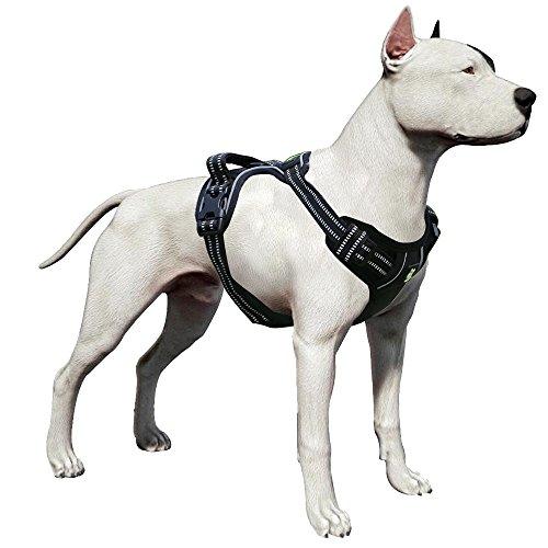LovinPet Pitbull Harness Front Range Dog Harness No-Pull Adjustable Pet Vest 3M Reflective for Dogs...