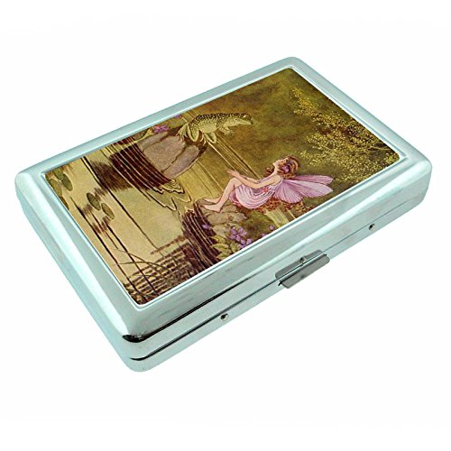 - Perfection In Style Metal Silver Cigarette Case Vintage Frogs Design 006