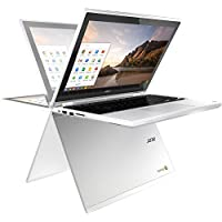 Acer R11 11.6' Convertible 2-in-1 HD Premium IPS Touchscreen Chromebook (2018 New), Intel Celeron N3060 1.6GHz, 4GB RAM, 16GB eMMC flash, Bluetooth, HD Webcam, HDMI, USB 3.0, Chrome OS - White