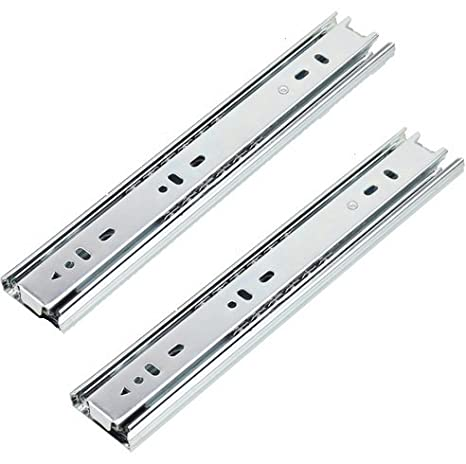 8 Inch Full Extension 3 Section Ball Bearing Side Mounted Drawer Slider 2Pcs