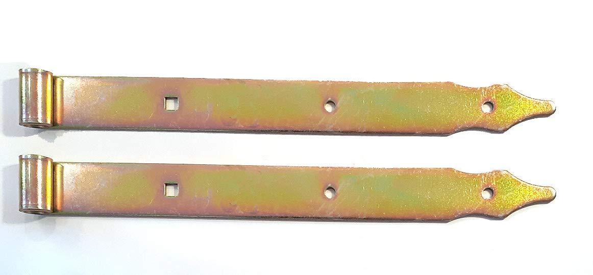 2er-Pack DMX Ladenband ZP300fi10 300 x 30 mm f/ür /Ø10 mm Kloben galvanisch gelb verzinkt St/ärke: 3 mm