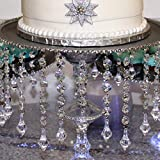 Ollain Crystal Garland 32.8Ft Glass Crystals Beaded Trim Clear Chandelier Octagon Beads Chain for Wedding Party DIY Craft Jewelry Decoration