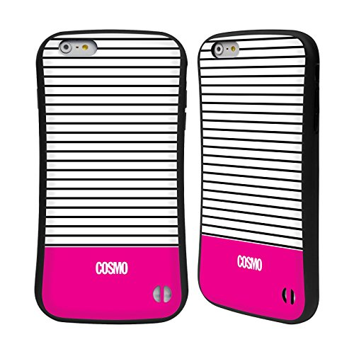Official Cosmopolitan Pink 1 Stripes Collection Hybrid Case for Apple iPhone 6 Plus / 6s Plus