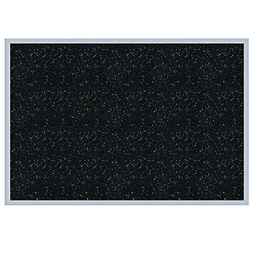 Ghent 36.5'' x 60.5'' Aluminum Frame Recycled Rubber Bulletin Board, Confetti, Made in the USA by Ghent