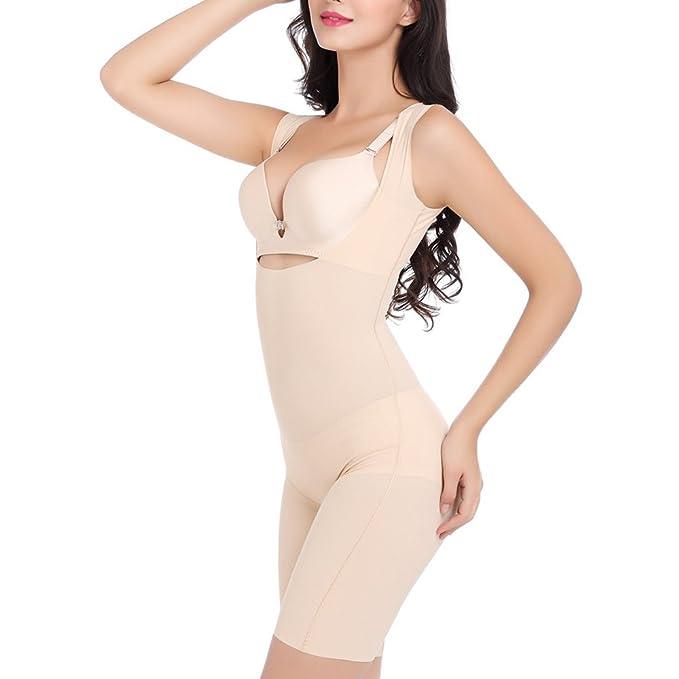 8f898116c3771 Fletion Women s Super Thin Breathable Shaping Full Slips Shapewear Seamless  Sleeveless Bodysuit Jumpsuit Elastic Curves Waist Cincher Corset Abdomen  Tight ...