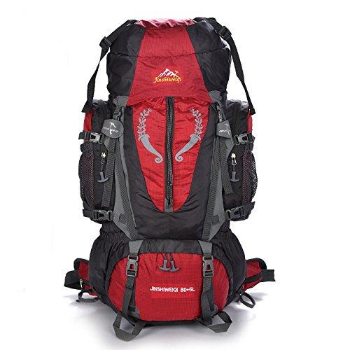 Para hombre excursión Tour 80L Misión de super-large-capacity Dual bolsa de hombro mochila escalada bolsas, naranja naranja