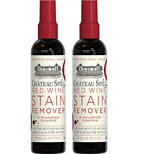 Chateau Spill Red Wine Remover - 4 oz/120 ml Spray Bottle | Wine Stain Remover for Clothes | Fabric Stain Remover | Carpet Stain Remover | Gets The Red Out | Great Wine Accessories -2 Pack