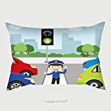 Custom Satin Pillowcase Protector Traffic Policeman Is Making A Stop Gesture Signal To Control Traffic 491463817 Pillow Case Covers Decorative