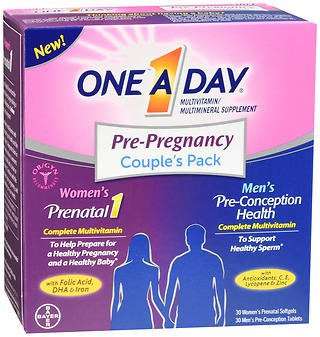 One A Day Pre-Pregnancy Couple's Pack Multivitamin (Pack of 2)