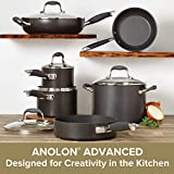 Anolon 82676 11-Piece Hard Anodized Aluminum Cookware Set, Gray