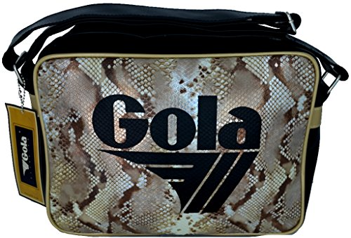 Borsa GOLA Midi Redford Snake Shimmer - ZCUB906BT 30x22 - Black/Brown/Gold