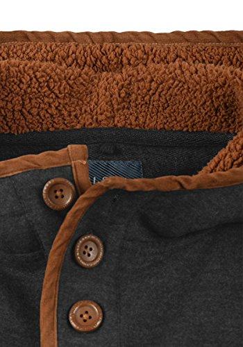 Men Et Molleton L'intérieur Doublure Mélange Capuche De Alexo Pull En À Charbon Sweat Teddy ax5S651wq
