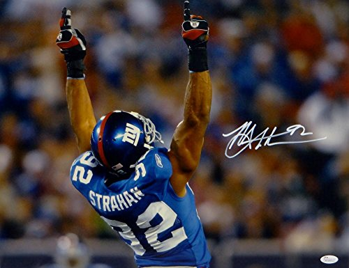 Michael Strahan Autographed New York Giants 16x20 Arms In Air Photo- JSA W (Michael Strahan New York Giants)