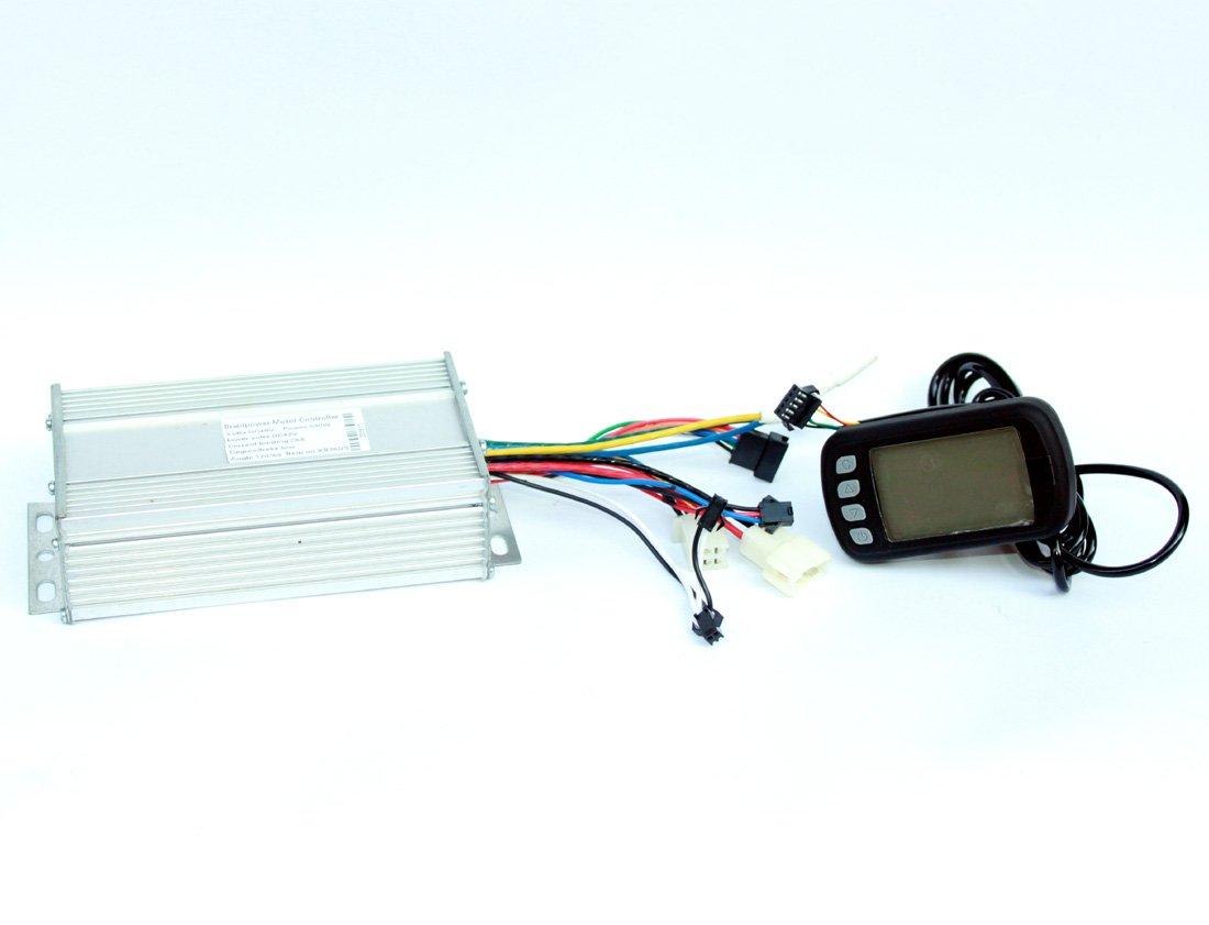 450ワット1000ワット電動バイクブラシレスモータコントローラ付きlcdディスプレイ電動スクーター速度コントローラとスピードメーター画面 [並行輸入品] B0792HSJFF 24V600W