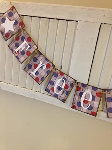 Amazon Com Patriotic Freedom Sign Banner Garland Bunting