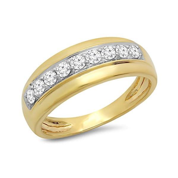 050-Carat-Ctw-18K-Gold-Round-Cut-White-Diamond-Mens-Anniversary-Wedding-Band-12-CT