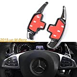 One Set Real Pure Carbon Fiber 3D Steering Wheel DSG Paddle Shifter Extension Direct Fit 2015-up Mercedes Benz C E CLA GLA GLC W205 W213 X205 W117 X156