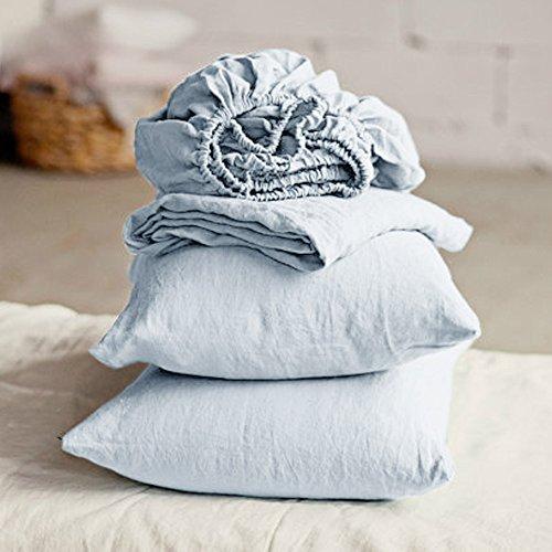 Lausonhouse Linen Sheet Set,Luxurious 100% Pure French Linen Sheet Set - ()