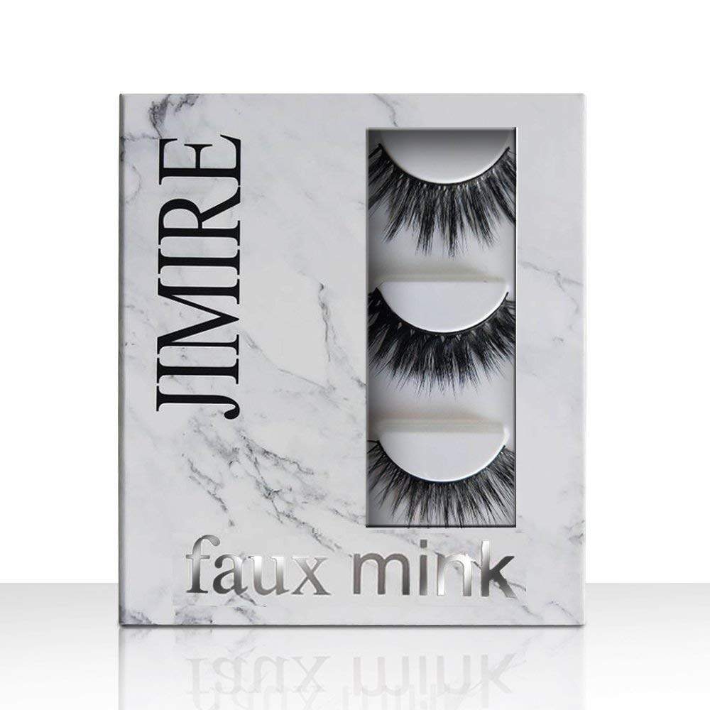 JIMIRE False Eyelashes Natural Wispies Eyelashes False Lashes 3 Pairs