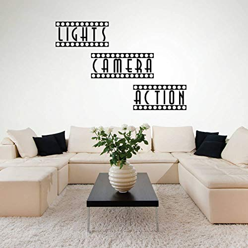 TWJYDP Wall Stickers Wallsticker Lights Camera Action Home