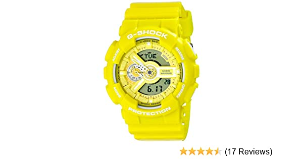 Amazon.com: Casio G-Shock Yellow Dial Resin Quartz Mens Watch GA110BC-9A: Health & Personal Care