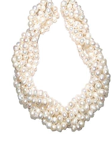 30a84f192dce Collar De Perlas Cultivadas Y Broche De Plata .925 A060  Amazon.com ...