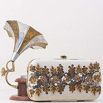 Unique handmade Bag For Women,Cream - Clutches