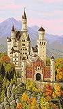 Riolis 1520 - Neuschwanstein Castle - Cross Stitch Kit 14' x 23' 14 Count 30 Colors