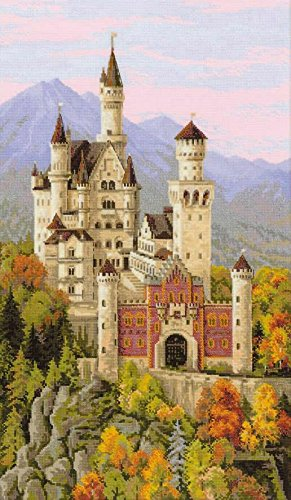 "Riolis 1520 - Neuschwanstein Castle - Cross Stitch Kit 14"" x"