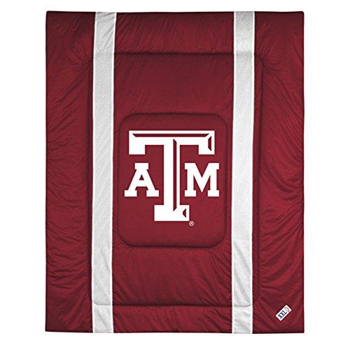 NCAA Texas A&M Aggies Sideline Comforter Queen (Sidelines Texas Comforter)