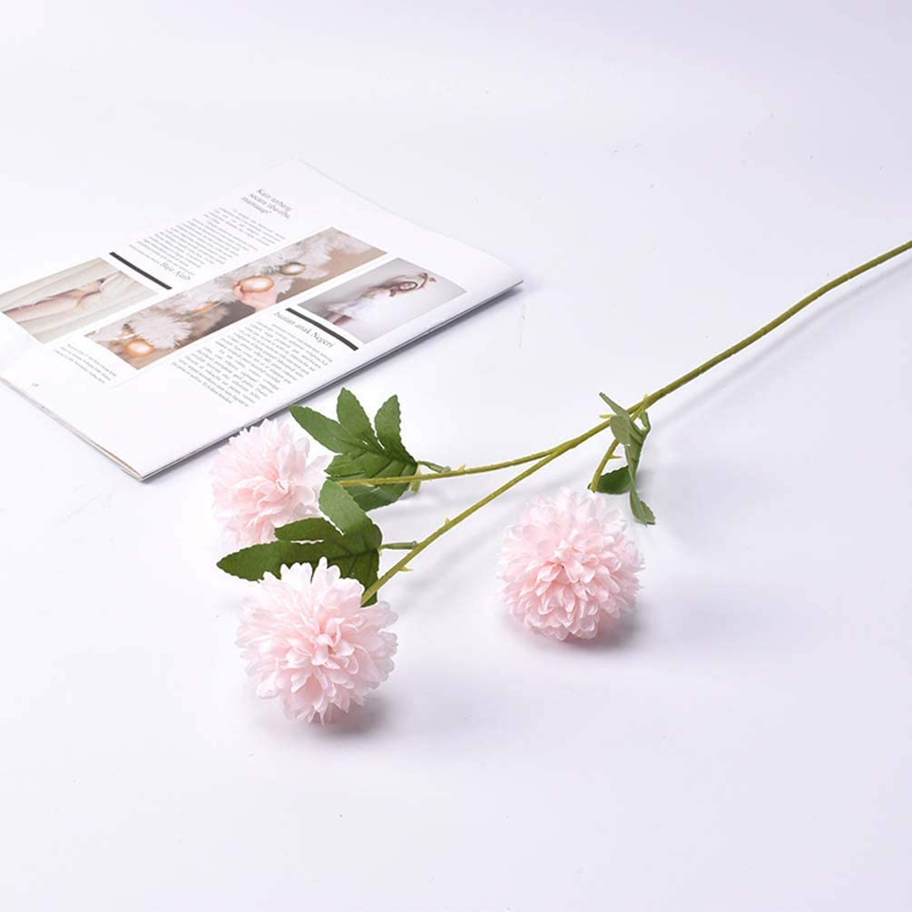 WANGLXST Moda Tulipanes Artificiales Crisantemo de Tenis de Mesa Flores Reales Falsas para la decoración de la Boda del Partido del Hotel en casa, Blanco Regalo