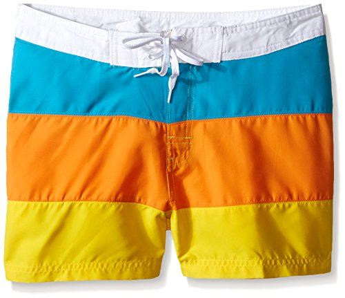 ls' Candy Boardshorts, Aqua Multi, Large (6) ()