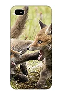 Creatingyourself High Grade Flexible Tpu Case For Iphone 4/4s - Animal Fox( Best Gift Choice For Thanksgiving Day)