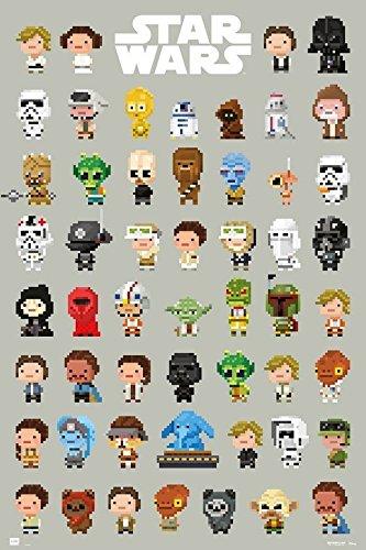 Grupo Erik Editores, Star Wars 8-bit Character Poster, 61cm x 91.5cm by Grupo Erik Editores