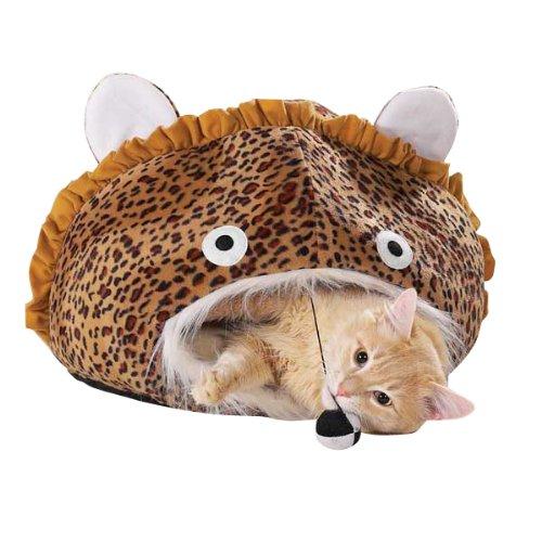 Meow Town Jungle Leopard Print Cat Cave, My Pet Supplies