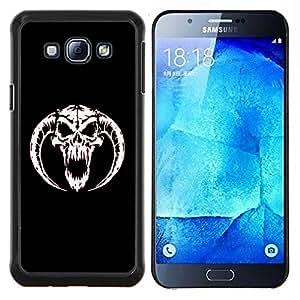 LECELL--Funda protectora / Cubierta / Piel For Samsung Galaxy A8 A8000 -- De cuernos del cráneo del diablo --