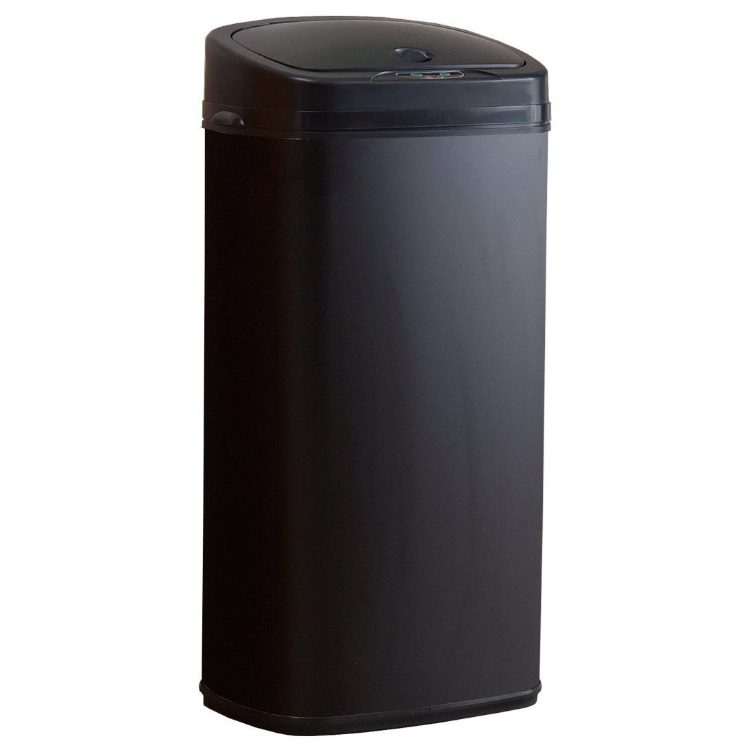 タンスのゲン 自動開閉式 ゴミ箱 68L センサー付き 大型 ブラック 43200002 01 B07F1Q9B8Q 68L ブラック ブラック 68L